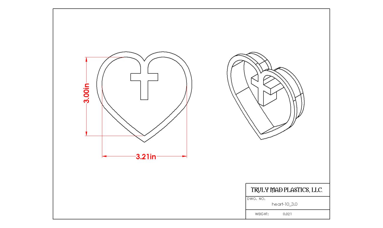 "Heart 10 (3.0"")"