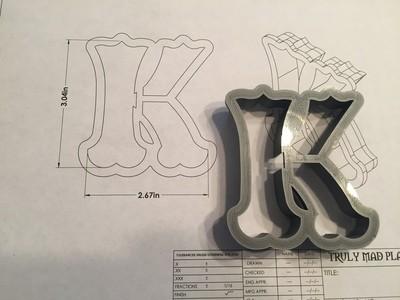 """K 3"""" Fancy Font"""