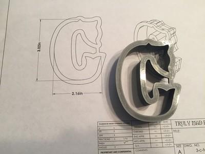 """C 3"""" Fancy Font"""