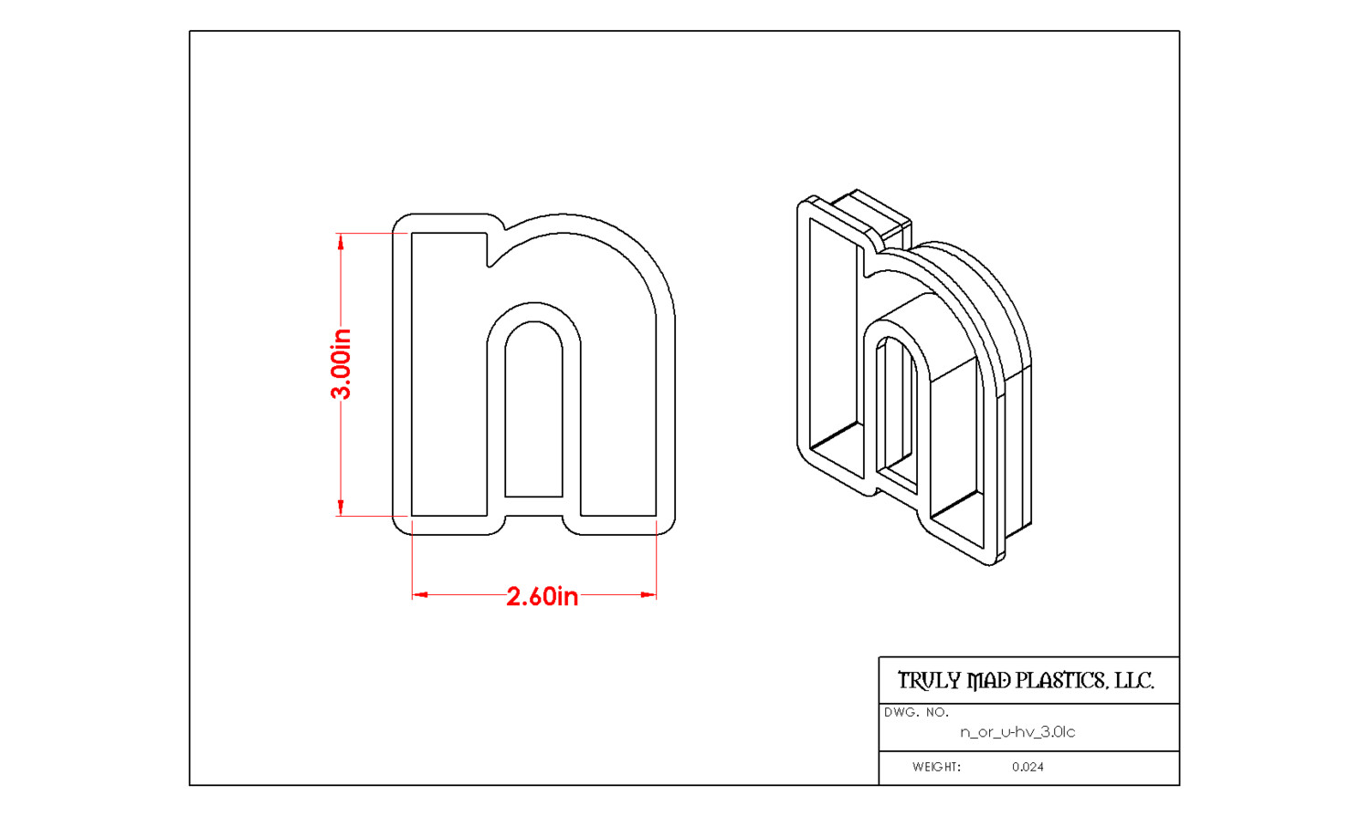 "Helvetica ""n or u"" lower case 3.0"""