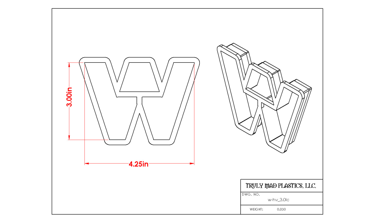 "Helvetica ""w"" lower case 3.0"""