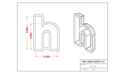 "Helvetica ""h"" lower case 3.0"""
