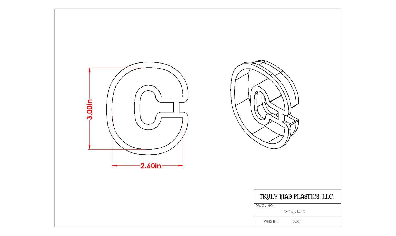 "Helvetica ""c"" lower case 3.0"""