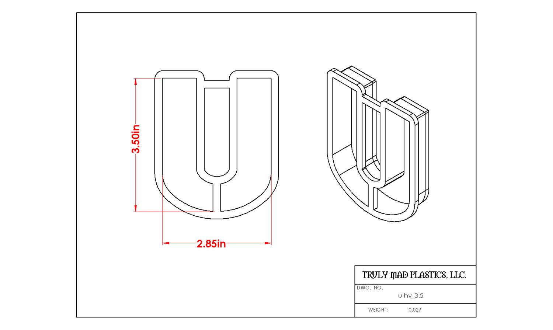 """Helvetica U 3.5"""""""