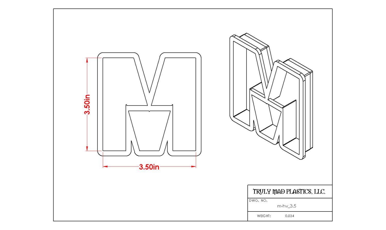 """Helvetica M 3.5"""""""