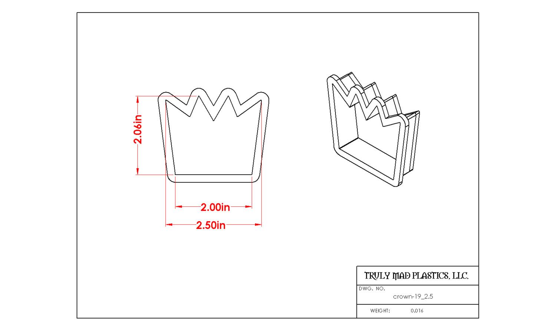 """Crown 19 (2.5"""")"""