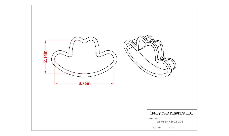 "Cowboy Hat 03 (3.75"")"