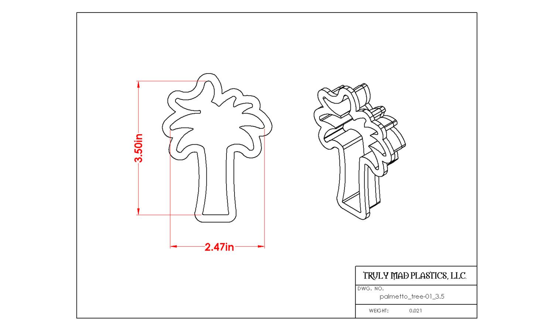 "Palmetto Tree 01 (3.5"")"