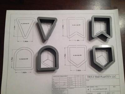 Mini Banner Set (4 peices)