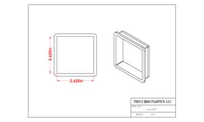 """Square 2.625"""""""