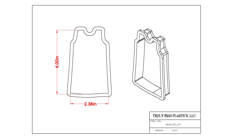 """Dress 42 (4.0"""")"""
