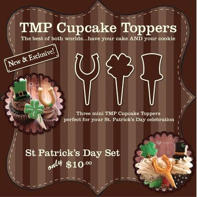 CT St. Patricks Day Set (horse shoe 01, 4 leaf clover, top hat)