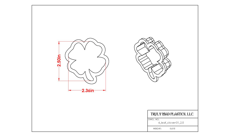 """4 Leaf Clover 01 (2.5"""")"""