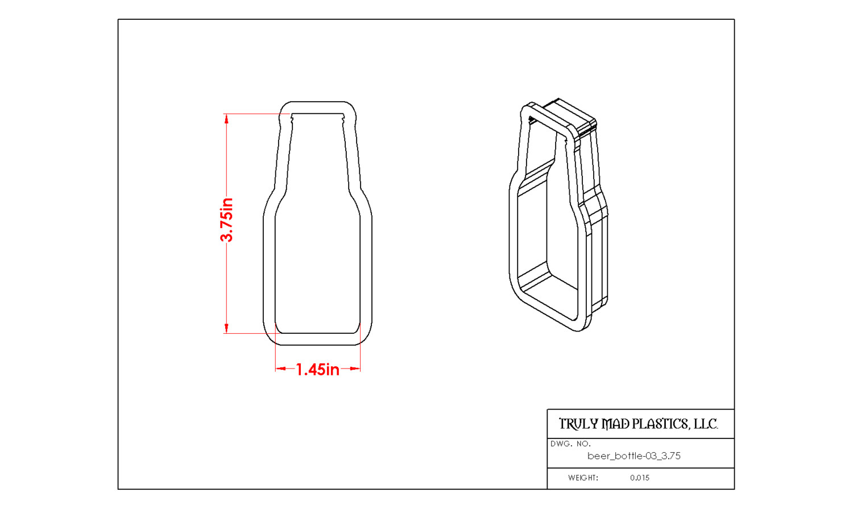 """Beer Bottle 03 (3.75"""")"""