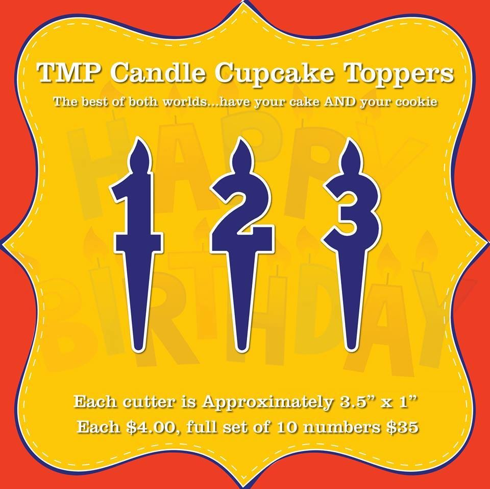 Candle Numbers Cupcake Toppers (0-9)