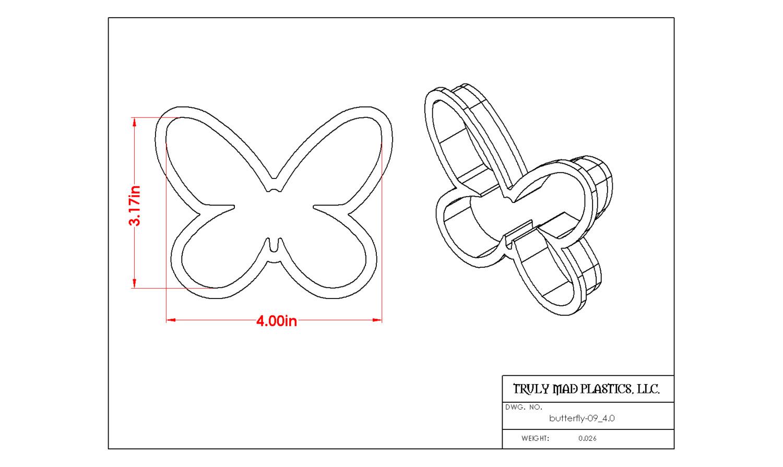 """Butterfly 09 4.0"""""""