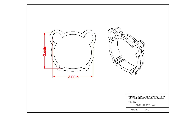 "Tsum Bear 01 3.0"""