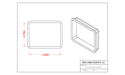 """Rectangle 2.75"""" x 3.625"""" (rounded corners)"""