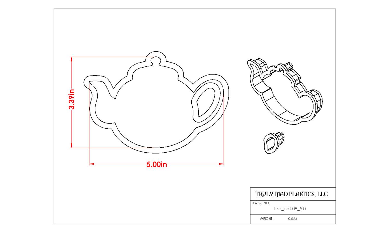 """Tea Pot 08 (5.0"""")"""