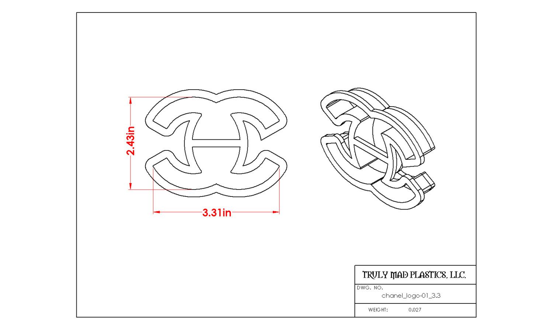 "Chanel Logo 01 3.3"""