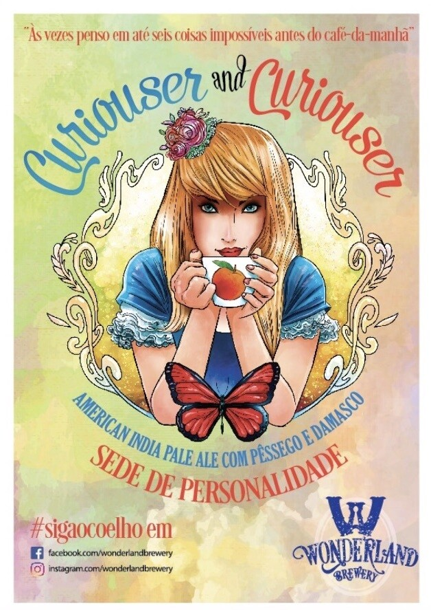 """Poster """"Curiouser and Curiouser"""", tamanho A3 (29,7 x 42,0 cm) 300g/m2"""