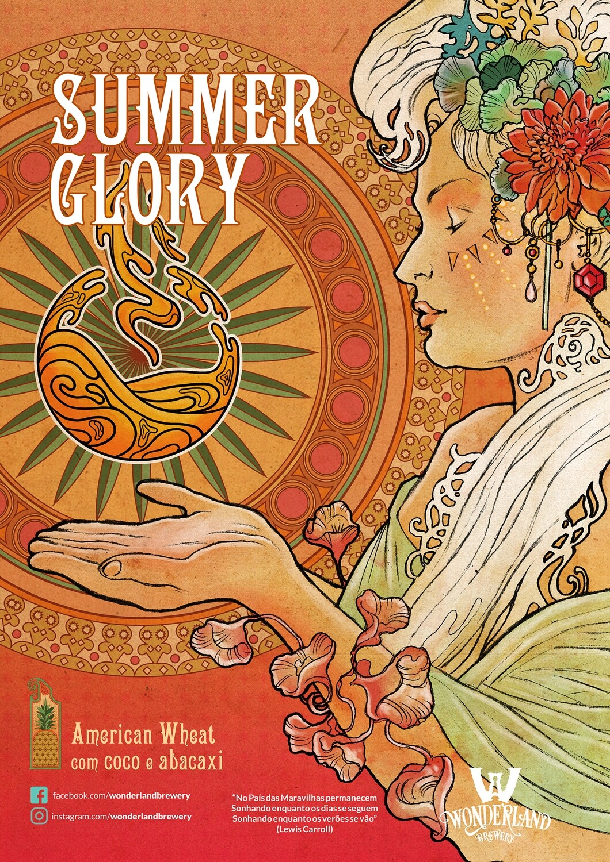 "Poster ""Summer Glory"", tamanho A3 (29,7 x 42,0 cm) 300g/m2"