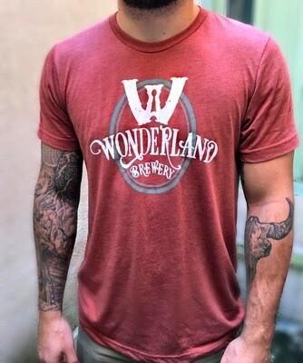 Camiseta Wonderland, tri-blend, terracota