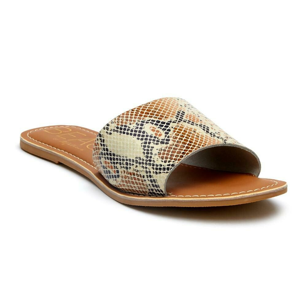 Beach Cabana White/Snake Leather Sandal