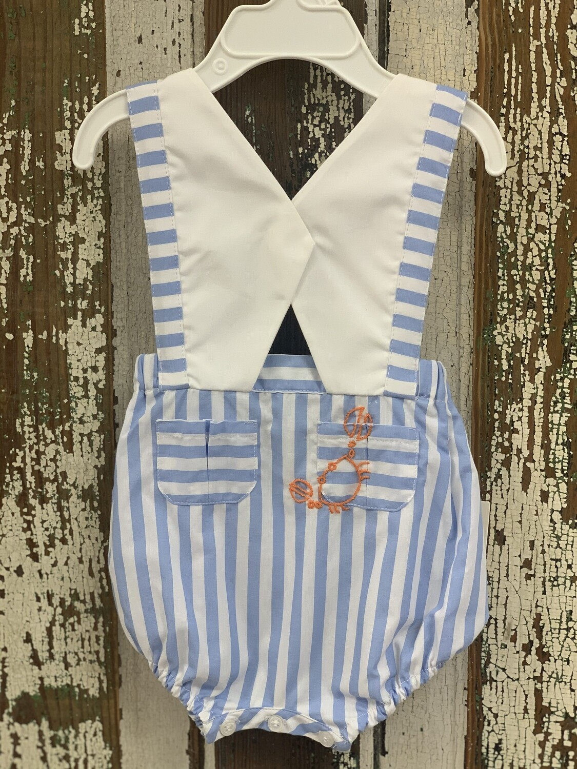 Sophie & Lucas Seaside Crab Overall SL2844