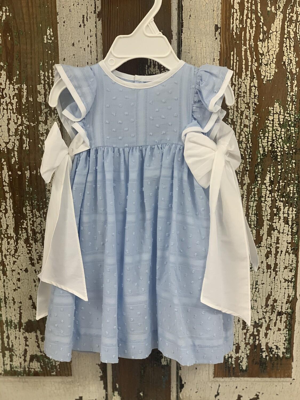 Sophie and Lucas Blue Swiss Dot Dress 2802