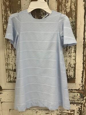 Gabby Dress in Blue Swiss Dot 1203