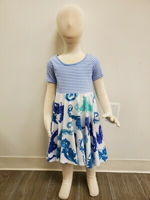 Three Friends Angel Cake Dress in Seahorse