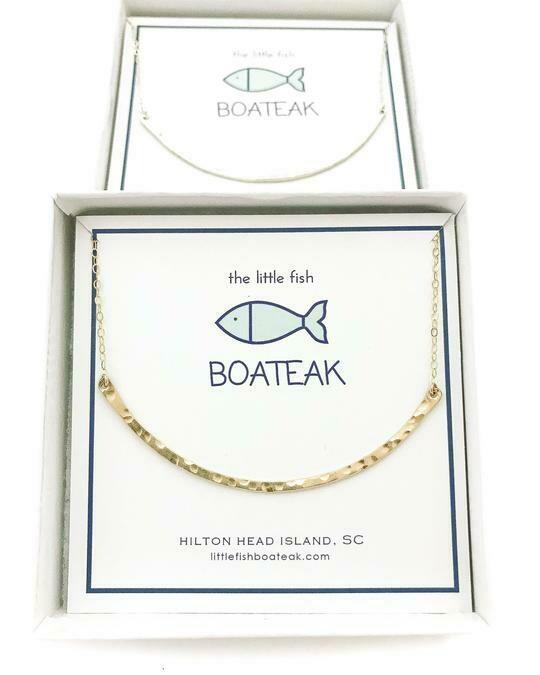 Little Fish Boateak ClassSea Curve Necklace