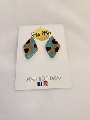 Jessi Mo's Ceramic Earrings- Blue Isle Glaze- 2 Options