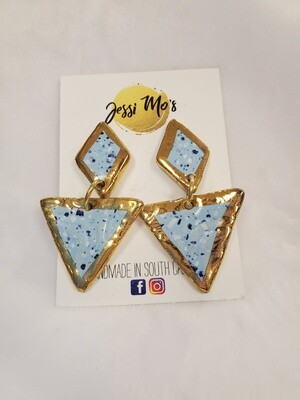 Jessi Mo's Ceramic Earrings- Attic Splash Glaze