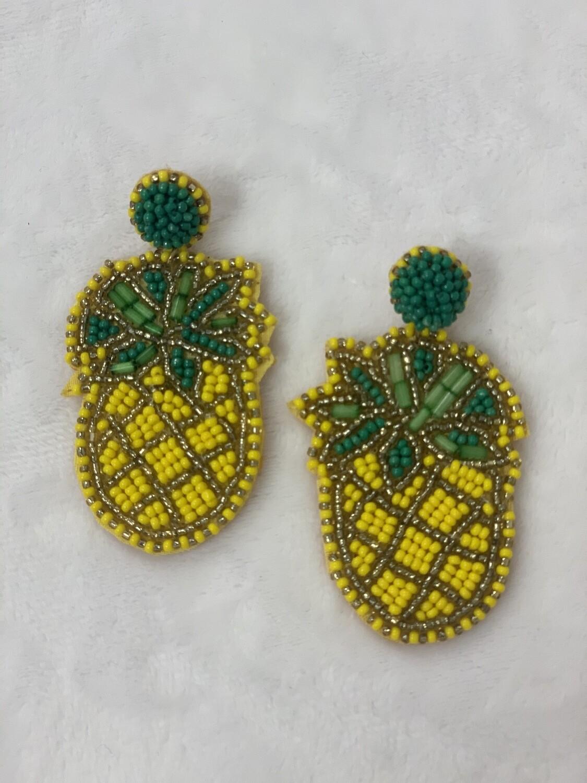 Pineapple Seed Bead Earrings