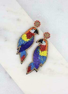 Embellished Bird Post Earring Multi