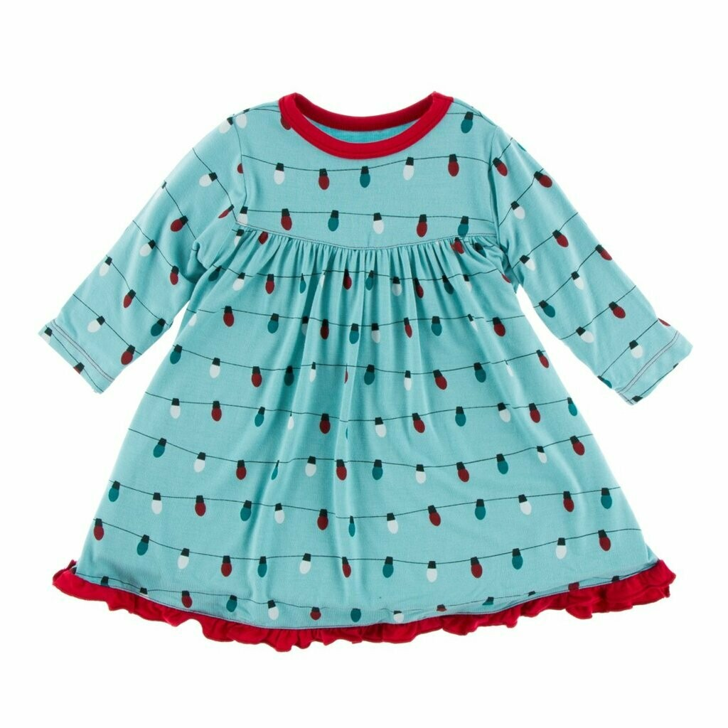 Kickee Pants Glacier Holiday Lights Swing Dress
