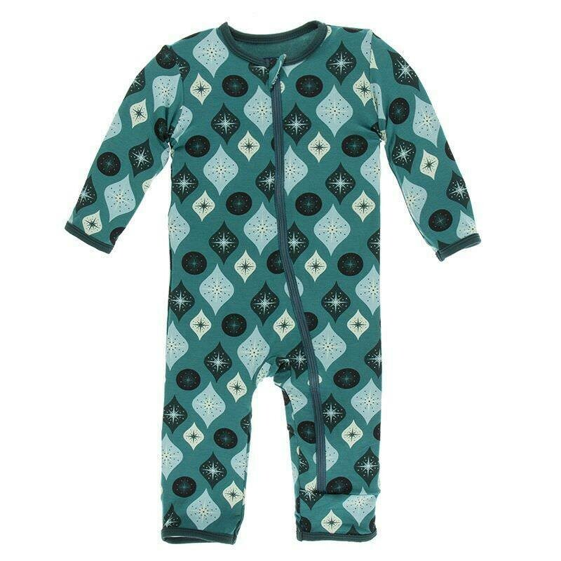 Kickee Pants Coverall - Cedar Vintage Ornaments