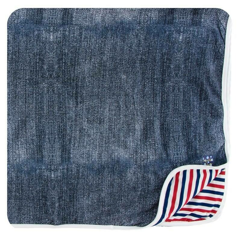 Kickee Pants Toddler Blanket- Denim