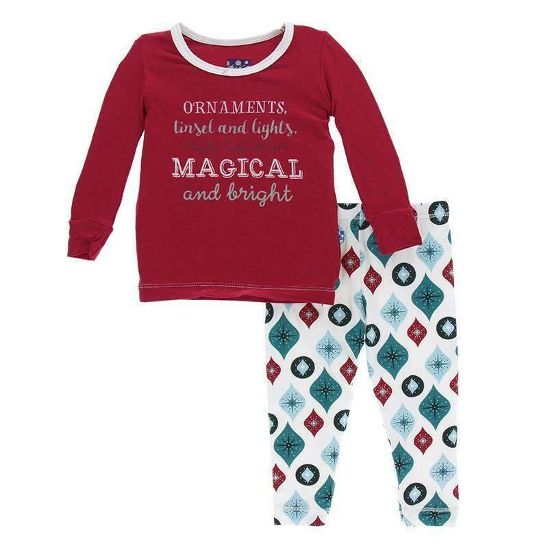 Kickee Pants L/S Pajamas- NaturalVintageOrnaments 2T