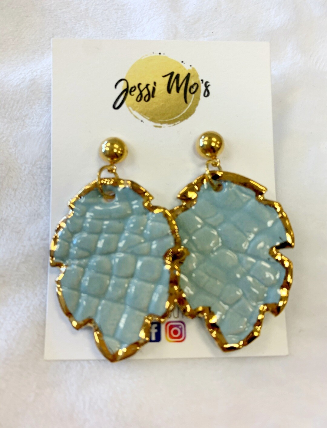 Jessi Mo's Ceramic Earrings- My Blue Heaven Glaze