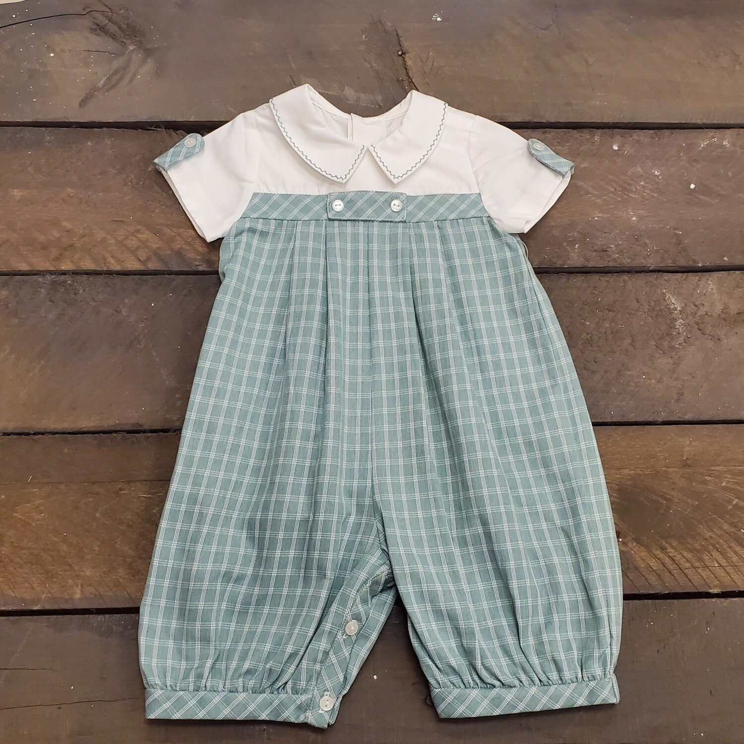 Sophie & Lucas- Green Ashford Plaid Long-All