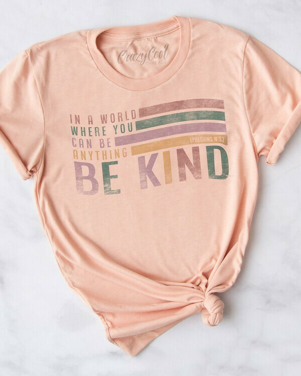 Be Kind Tee- Peach