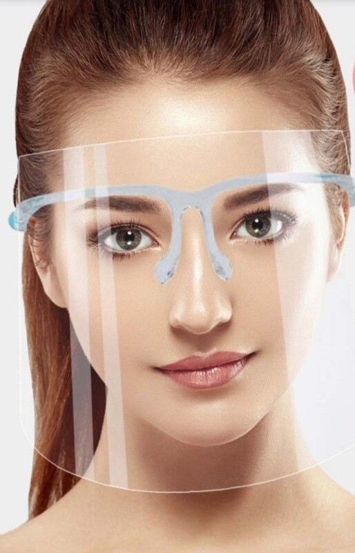 Adult Face Shield with Glasses