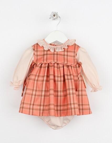 Sophie & Lucas- Pumpkin Plaid Dress