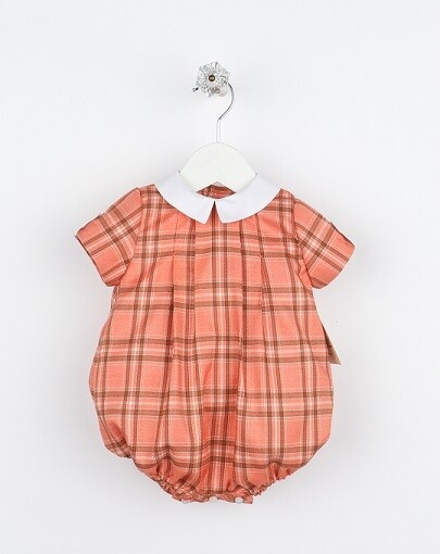 Sophie & Lucas- Pumpkin Plaid Boy Bubble