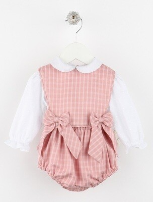 Sophie & Lucas- Rose Ashford Plaid Overall