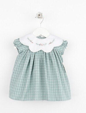 Sophie & Lucas- Green Ashford Plaid Dress