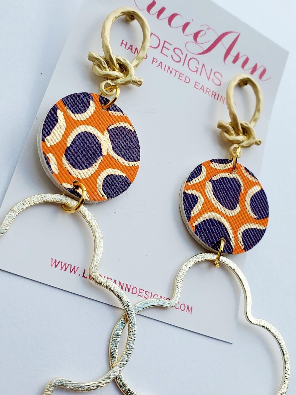 Quatrefoil- Purple and Orange